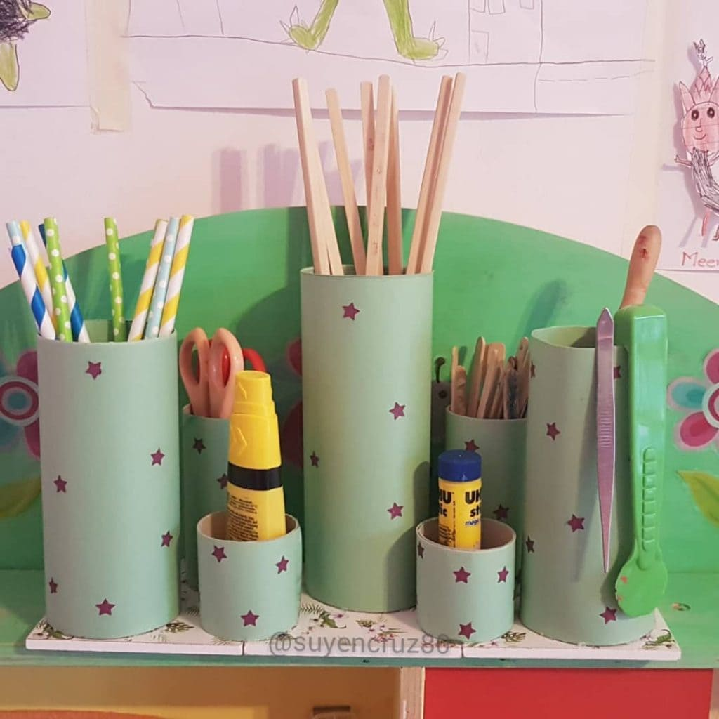 Toilet Paper Roll Crafts Organisers 3