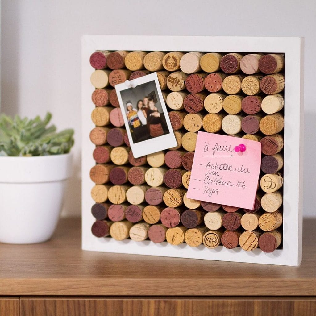 Wine Cork Crafts Bullet-in Board 4
