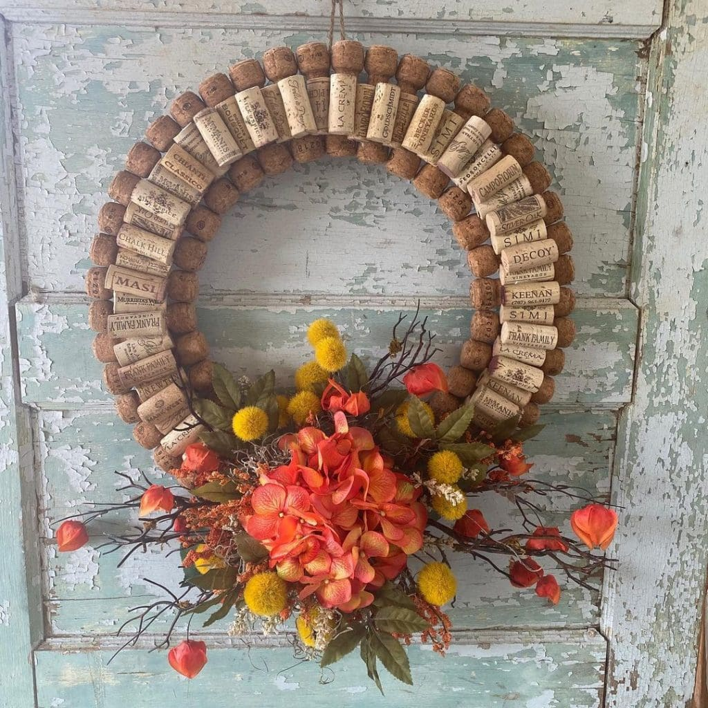 Wine Cork Crafts Other Fall Wreath