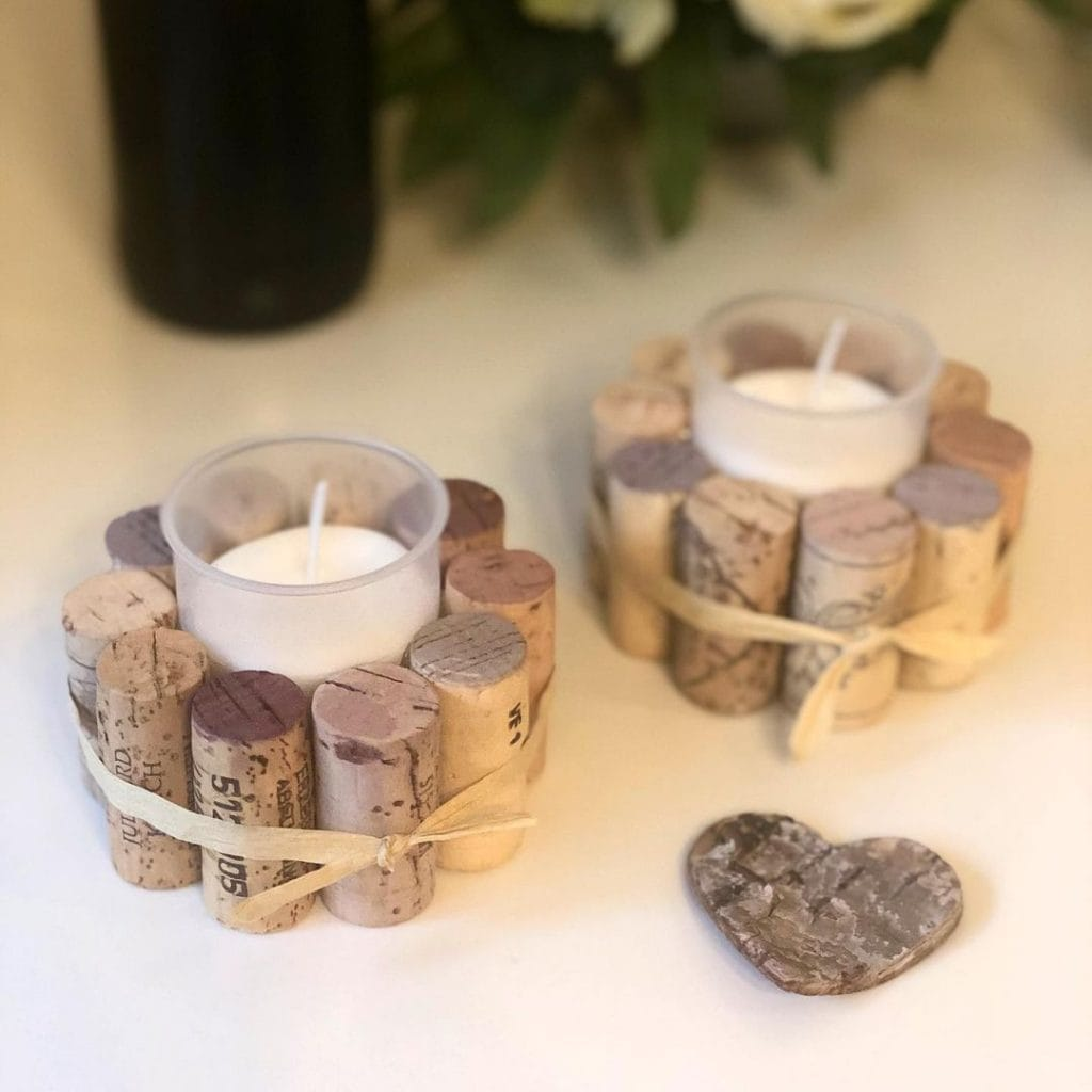 Wine Cork Crafts Other Ideas candle