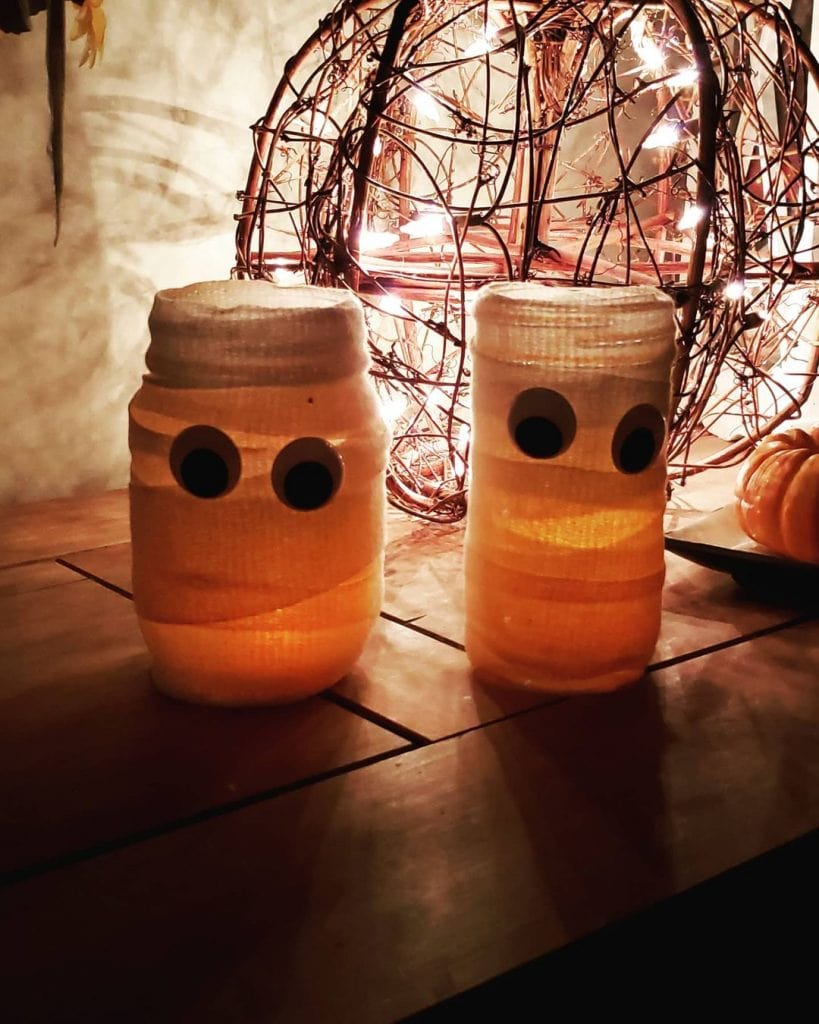 halloween mummy mason jar crafts