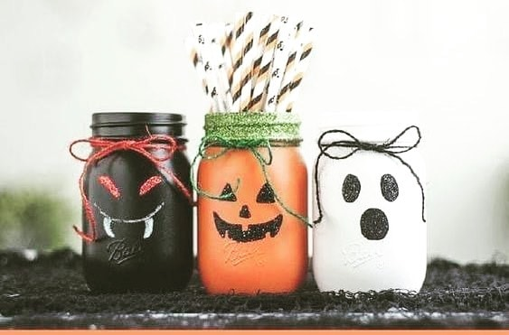 halloween character mason jar crafts