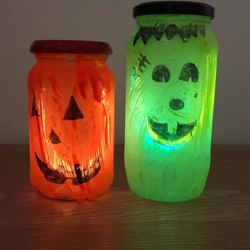 halloween lanterns mason jar crafts