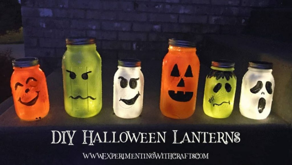 Halloween lanterns Mason Jar crafts 5