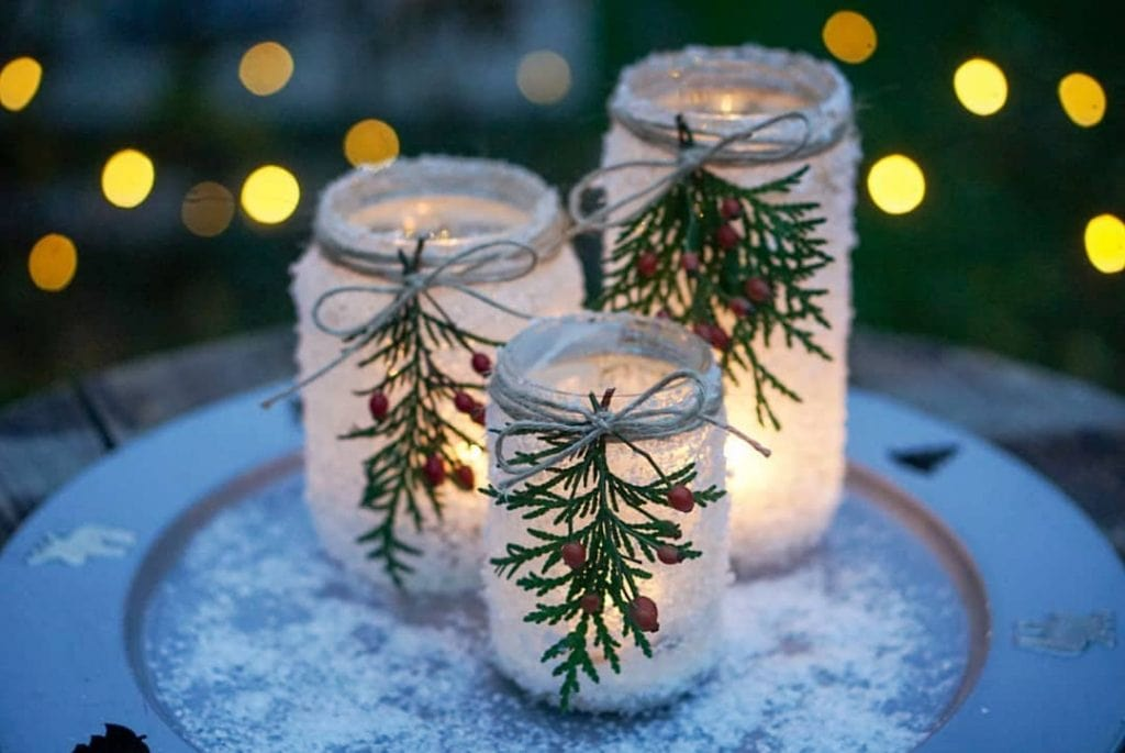 christmas vibes mason jar crafts