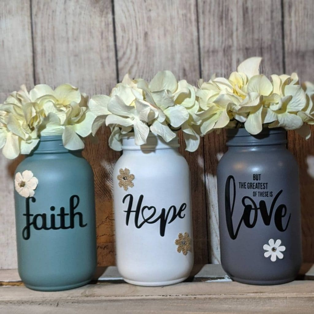 flower mason jar crafts