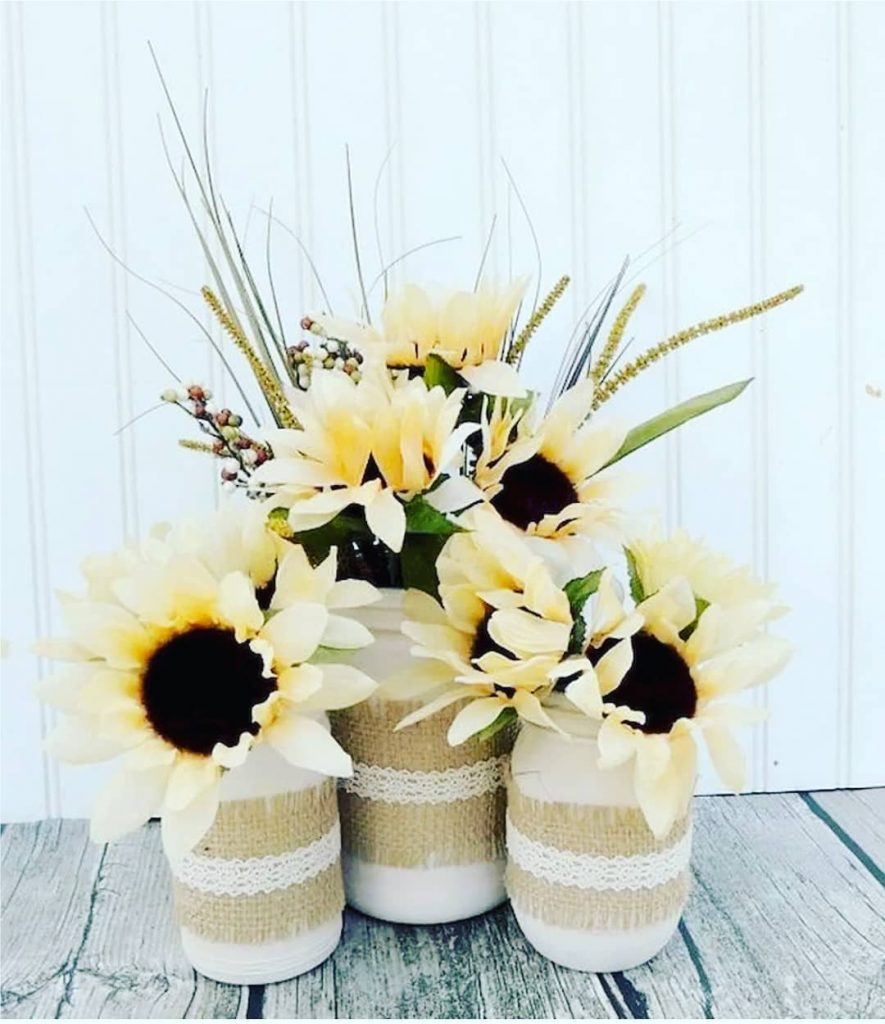 flower vase mason jar crafts