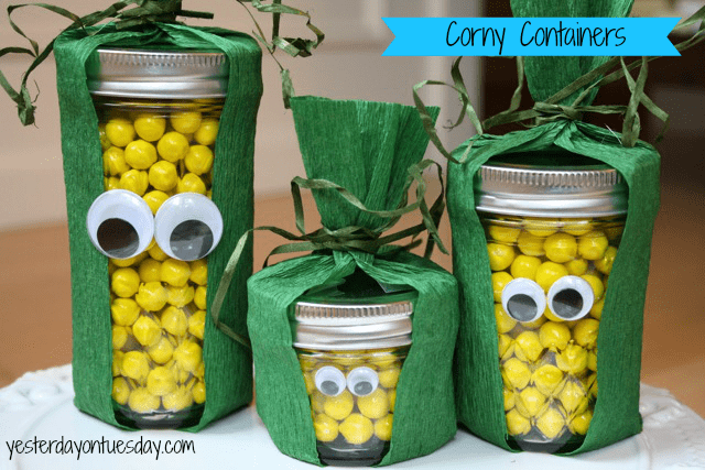 mason jar corny containers craft for kids