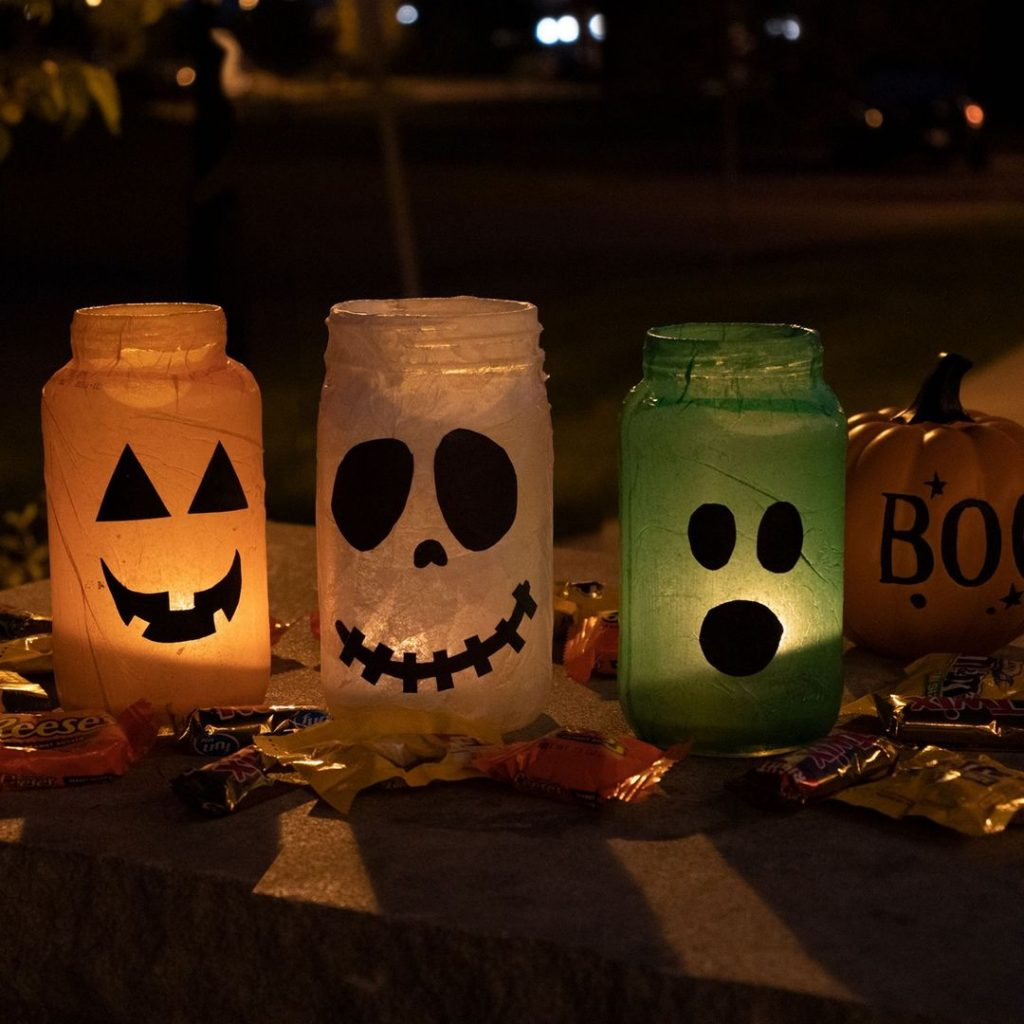 halloween lighting mason jar crafts
