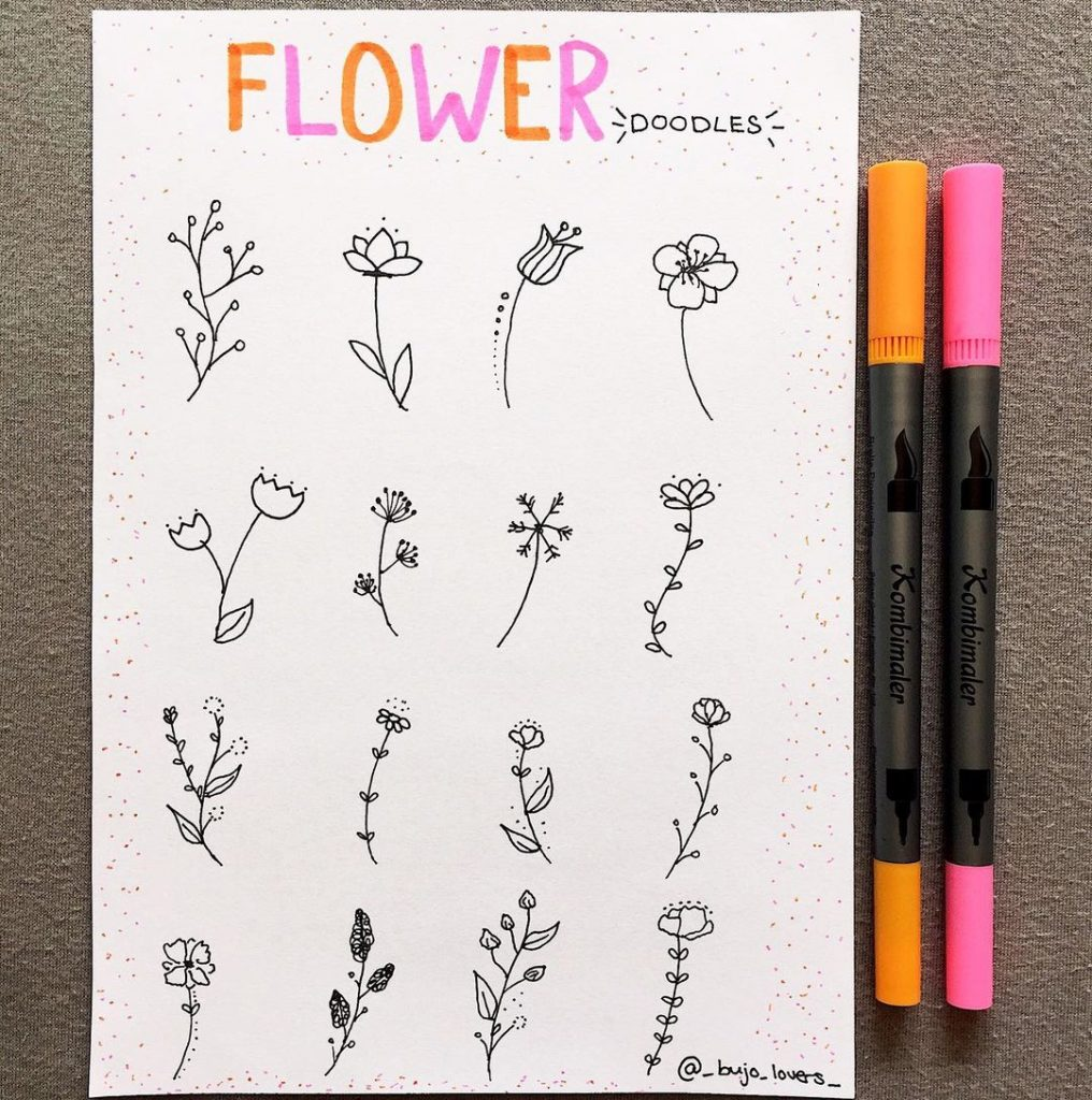 Other flower doodles to inspire you 11