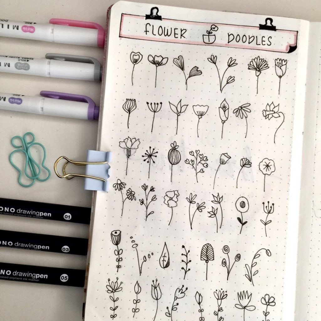Other flower doodles to inspire you 6