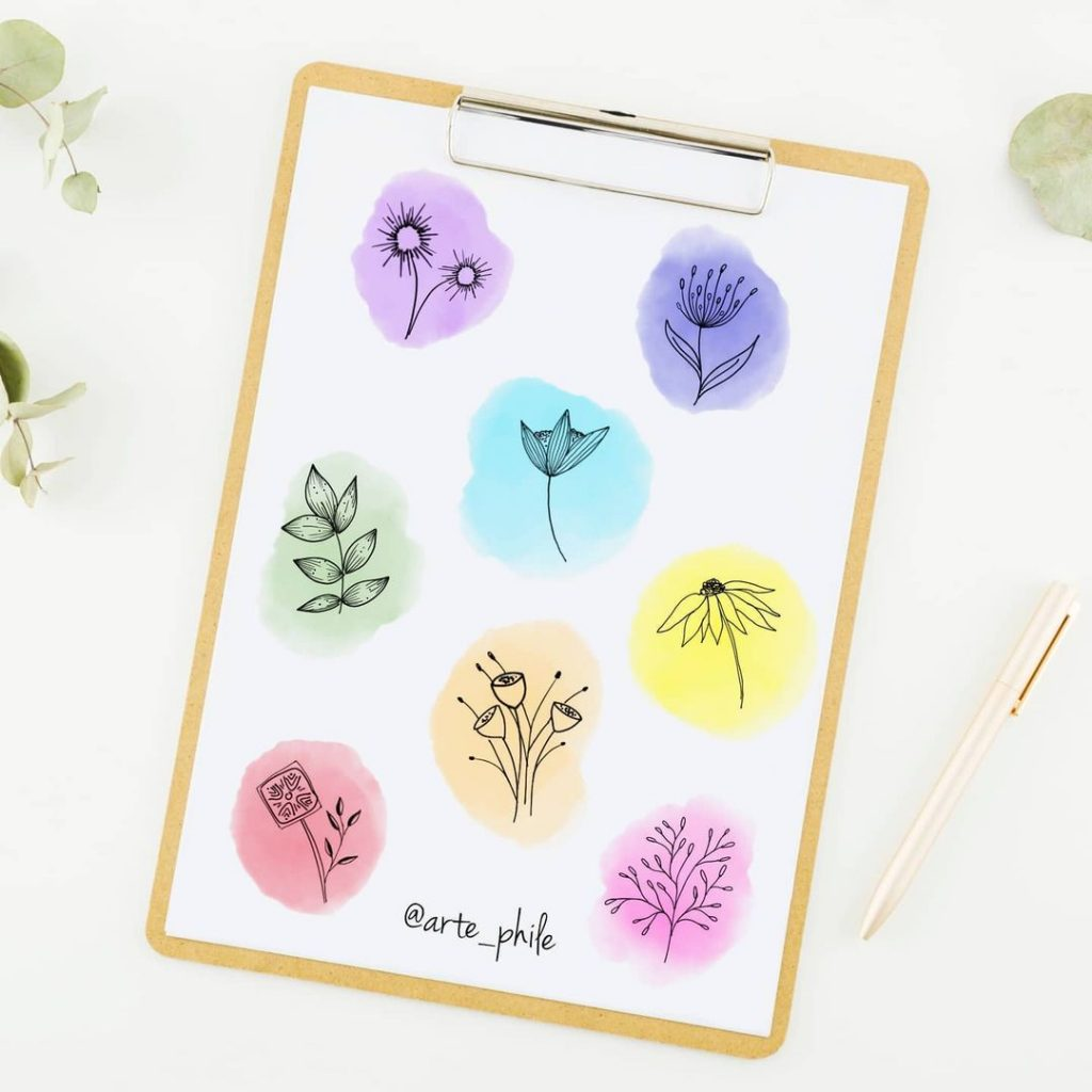 Other flower doodles to inspire you 7