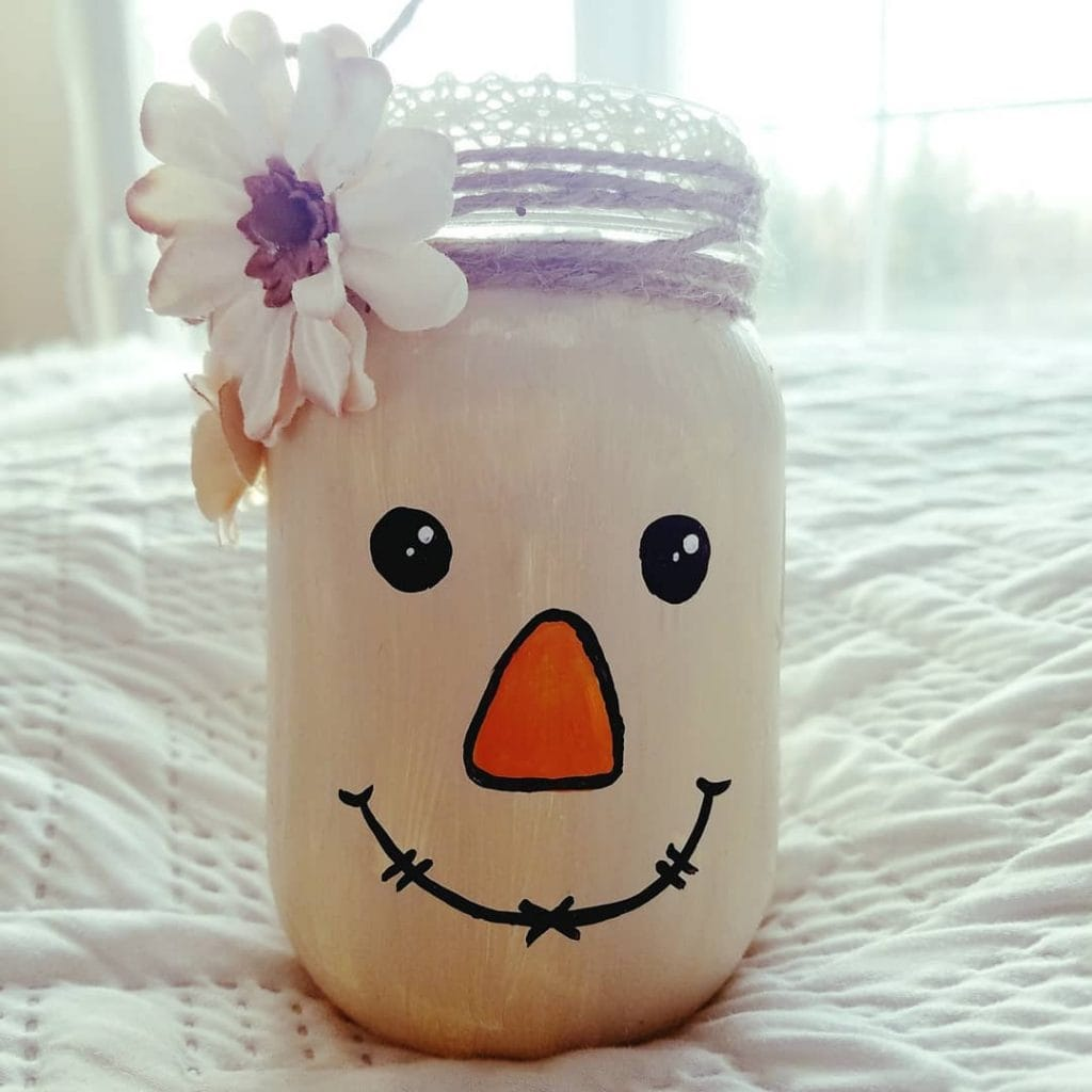 fall painted mason jar crafts