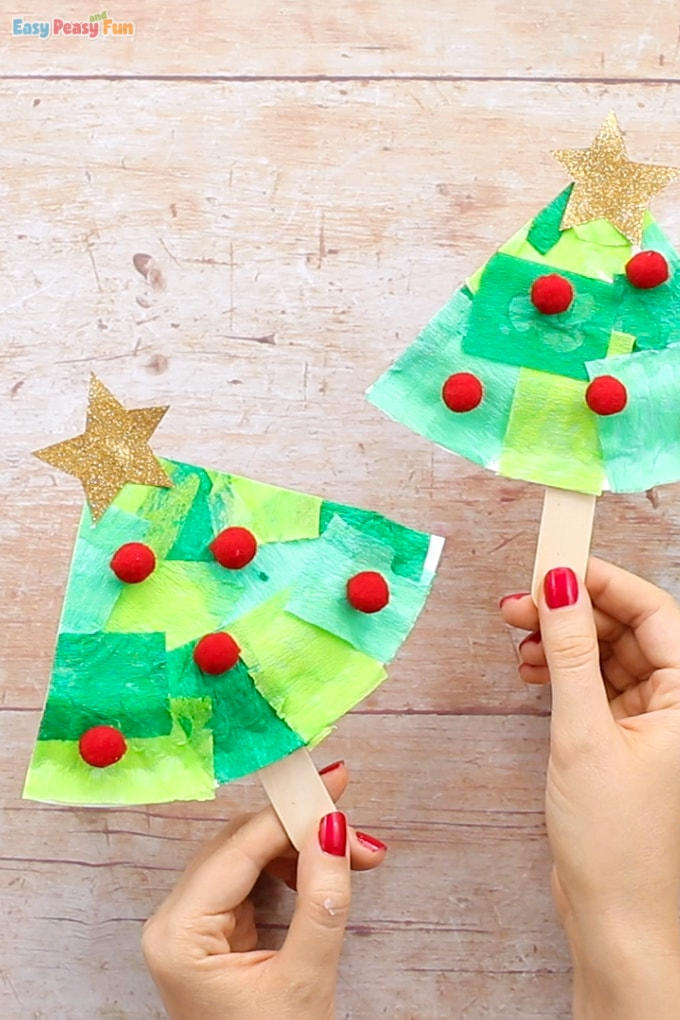 Tissue-Paper-Christmas-Tree-Craft