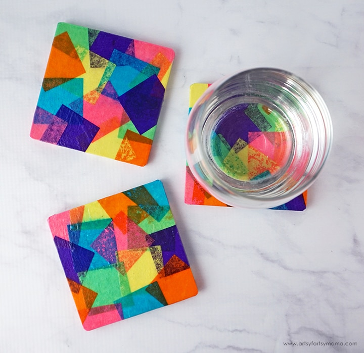 Tissue-Paper-Coasters-Overhead