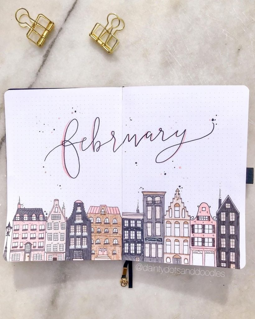 Amsterdam theme Cover Page for february