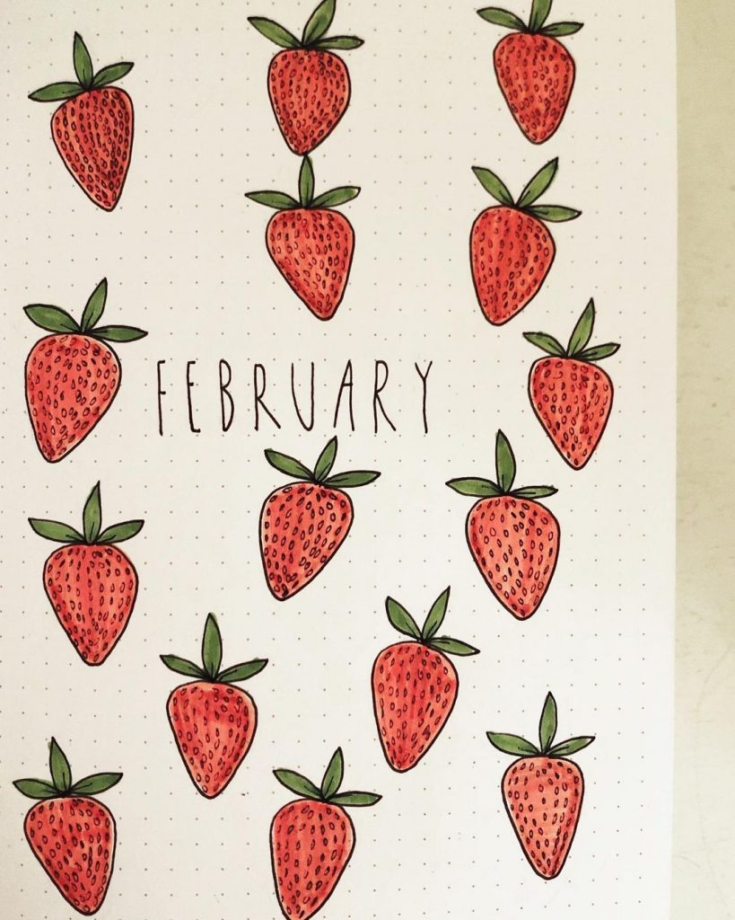 Strawberry Cover Page Ideas For February