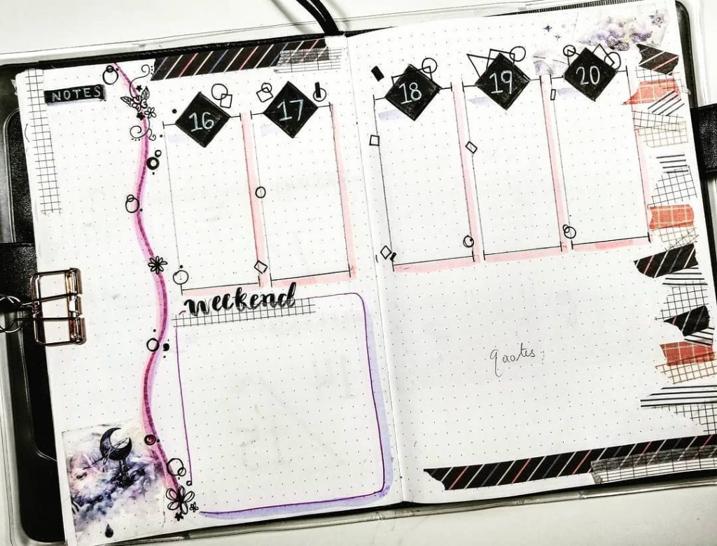 February Bullet Journal Weekly Layout Ideas