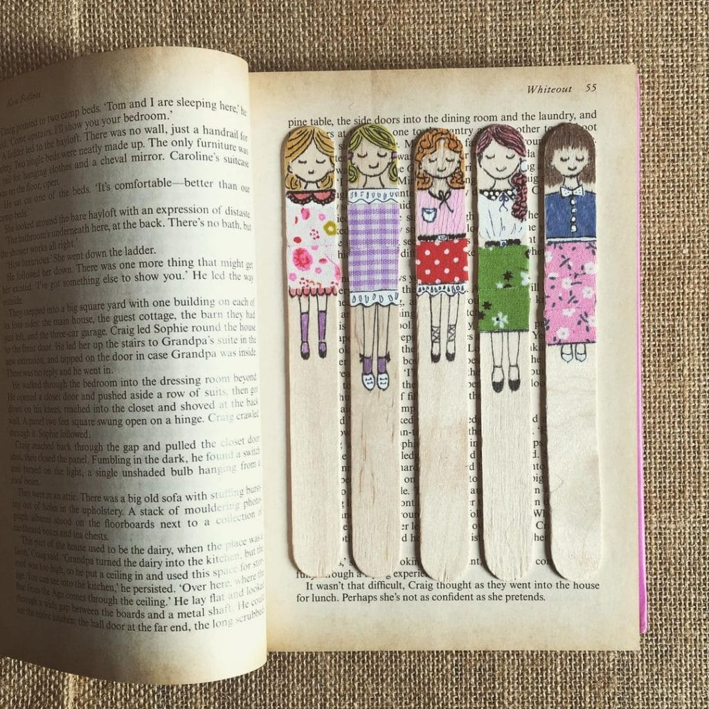 Bookmarks Popsicle stick crafts for adults