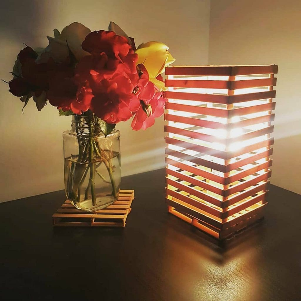 Lamp Popsicle stick crafts for adults