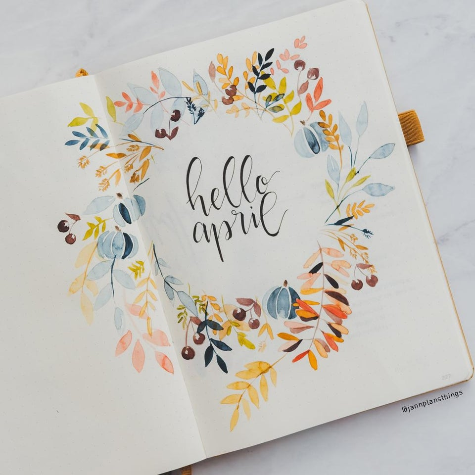 Cover Page April Bullet Journal