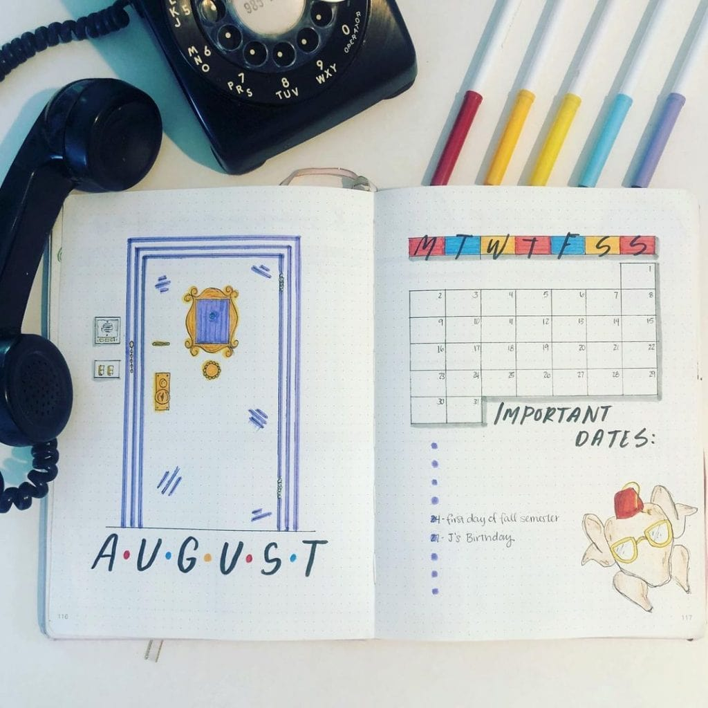 Friends Theme Bullet Journal
