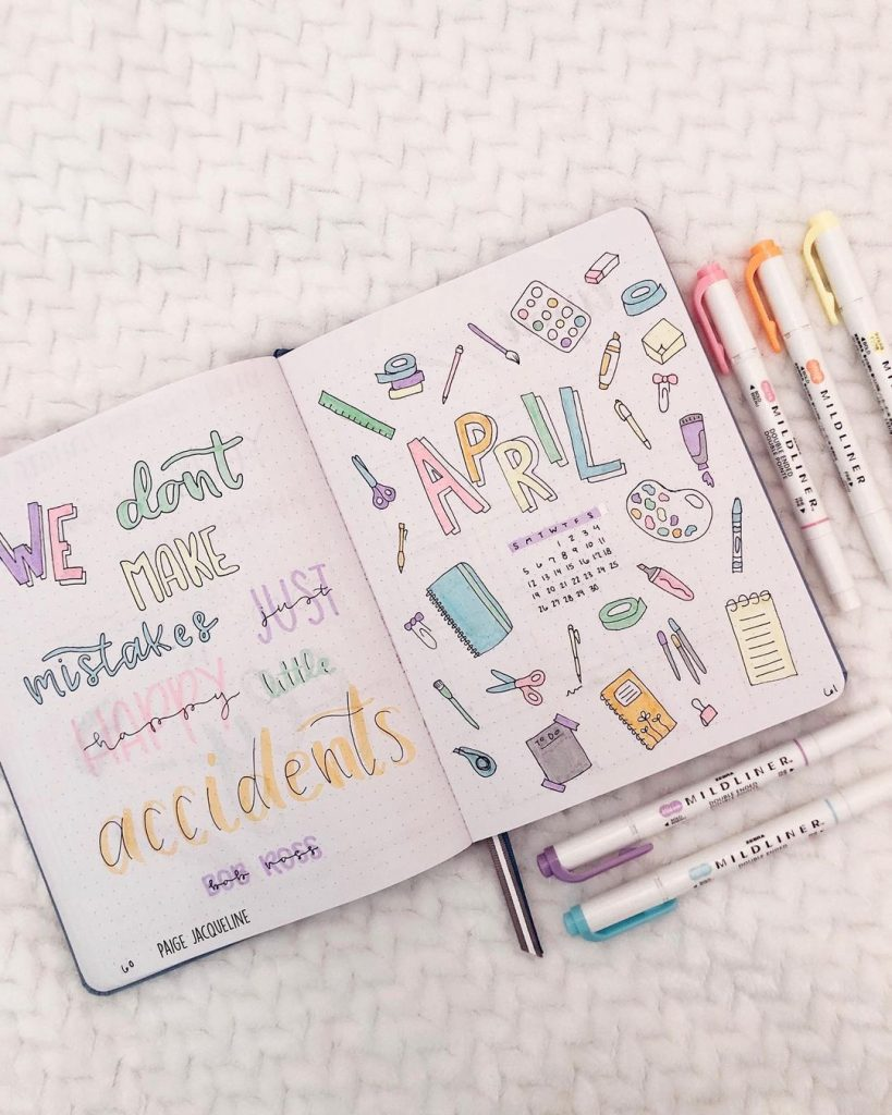 April Bullet journal quotes