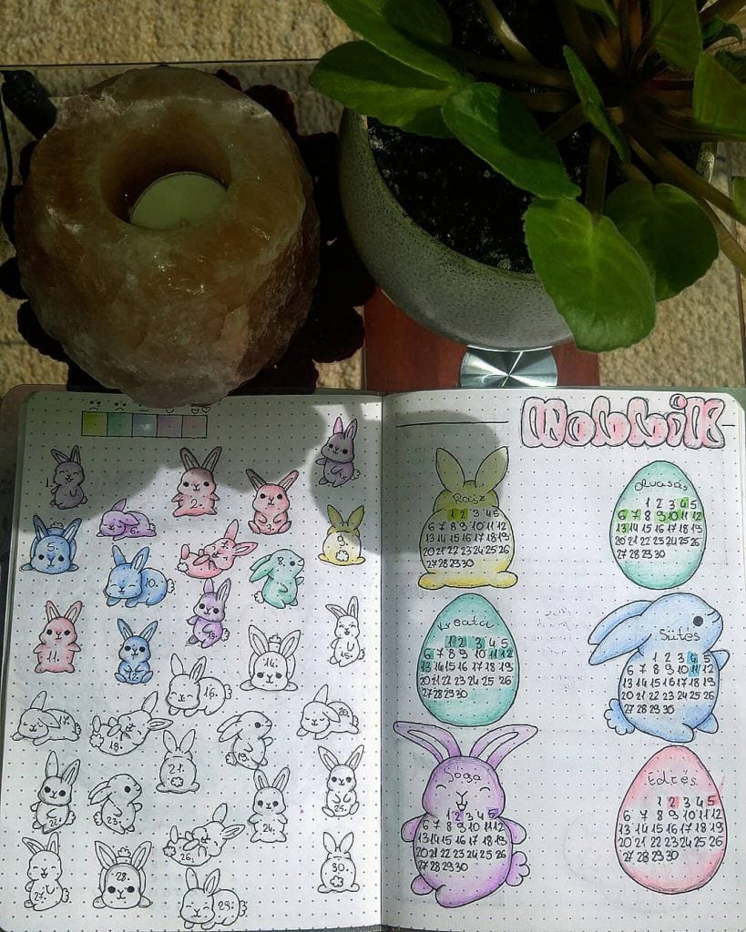 Weekly Theme Easter Bullet Journal