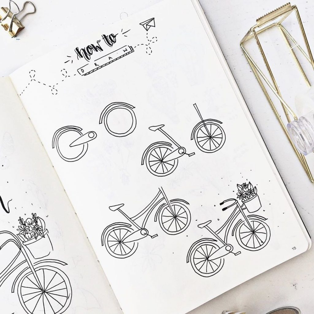 Doodle a bicycle