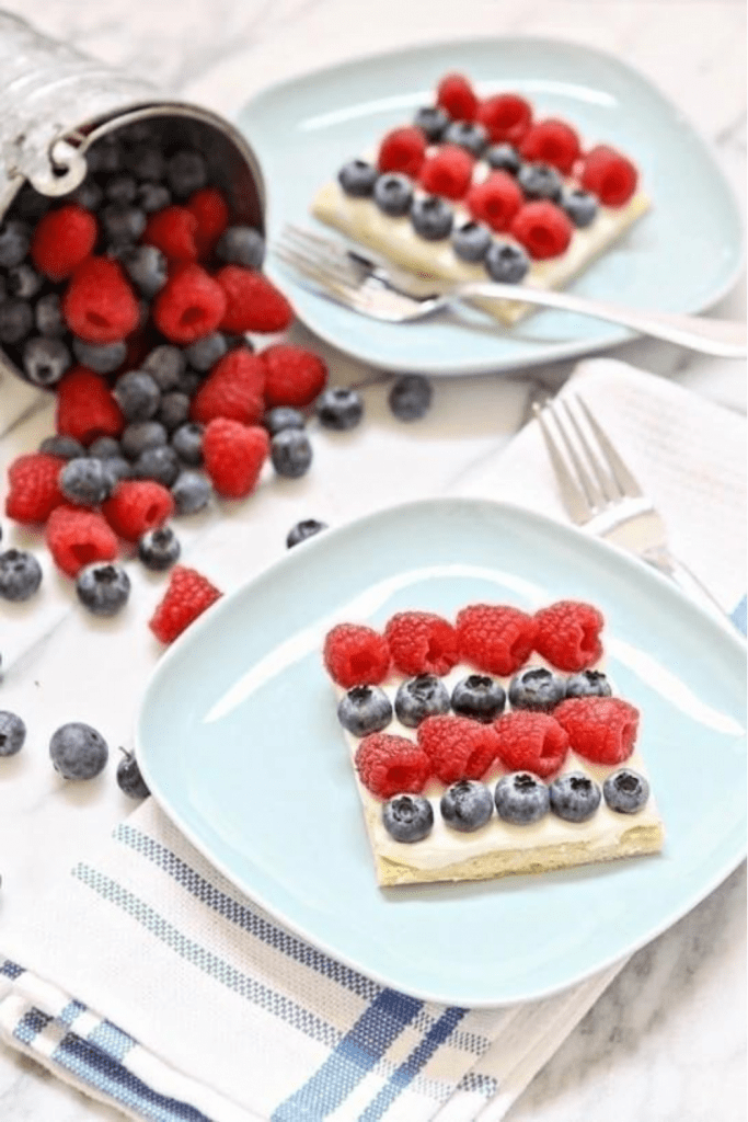 4th of July Berries Pizza Cake Dessert Recipes