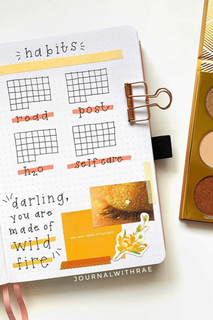Cosmetic Theme July habit trackers