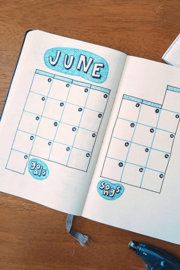 June Monthly Spread
