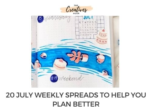 july weekly spreads