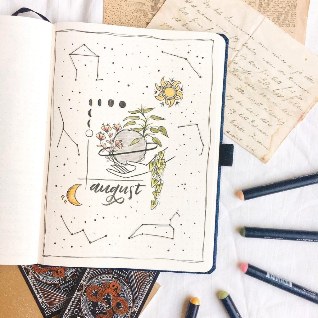 Celestial Theme August Month Cover