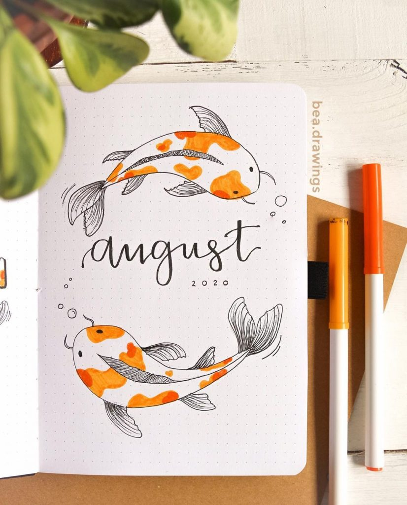 Koi Fish August Month Cover