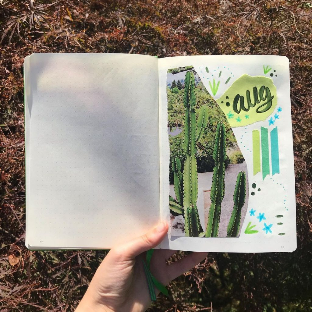 Succulents Theme August Month Cover
