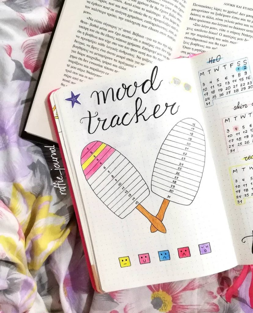 Popsicle August Mood Tracker