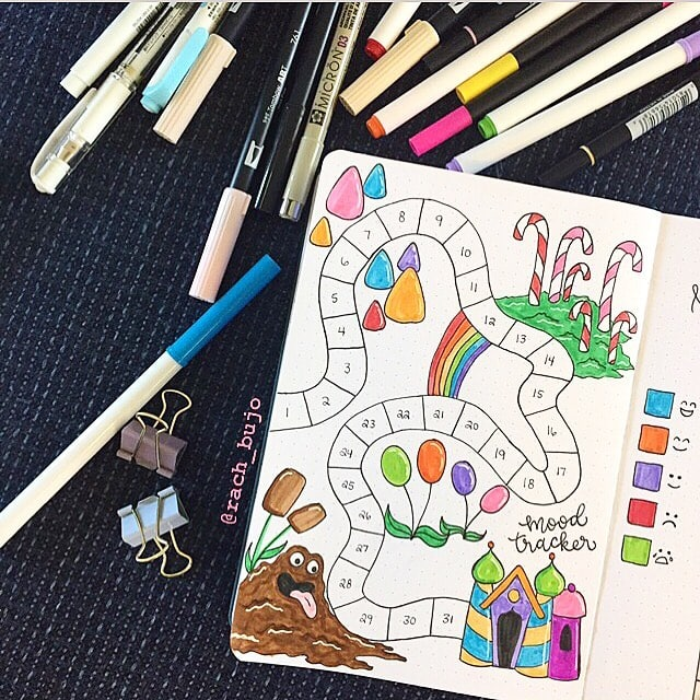 Candy Land August Mood Tracker