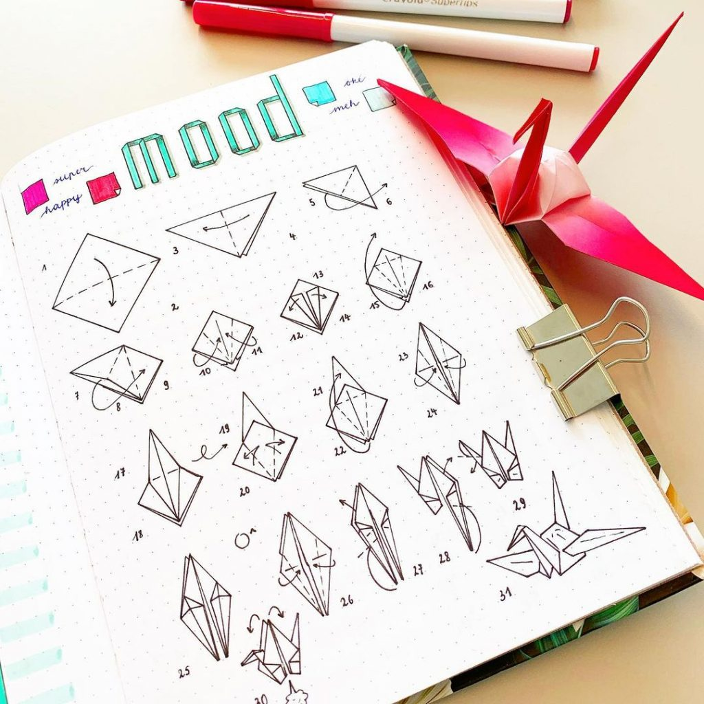 Doodle August Mood Tracker