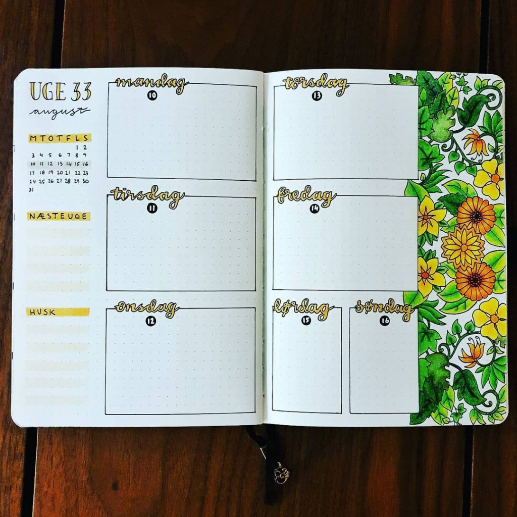 Colourful August Weekly Bujo