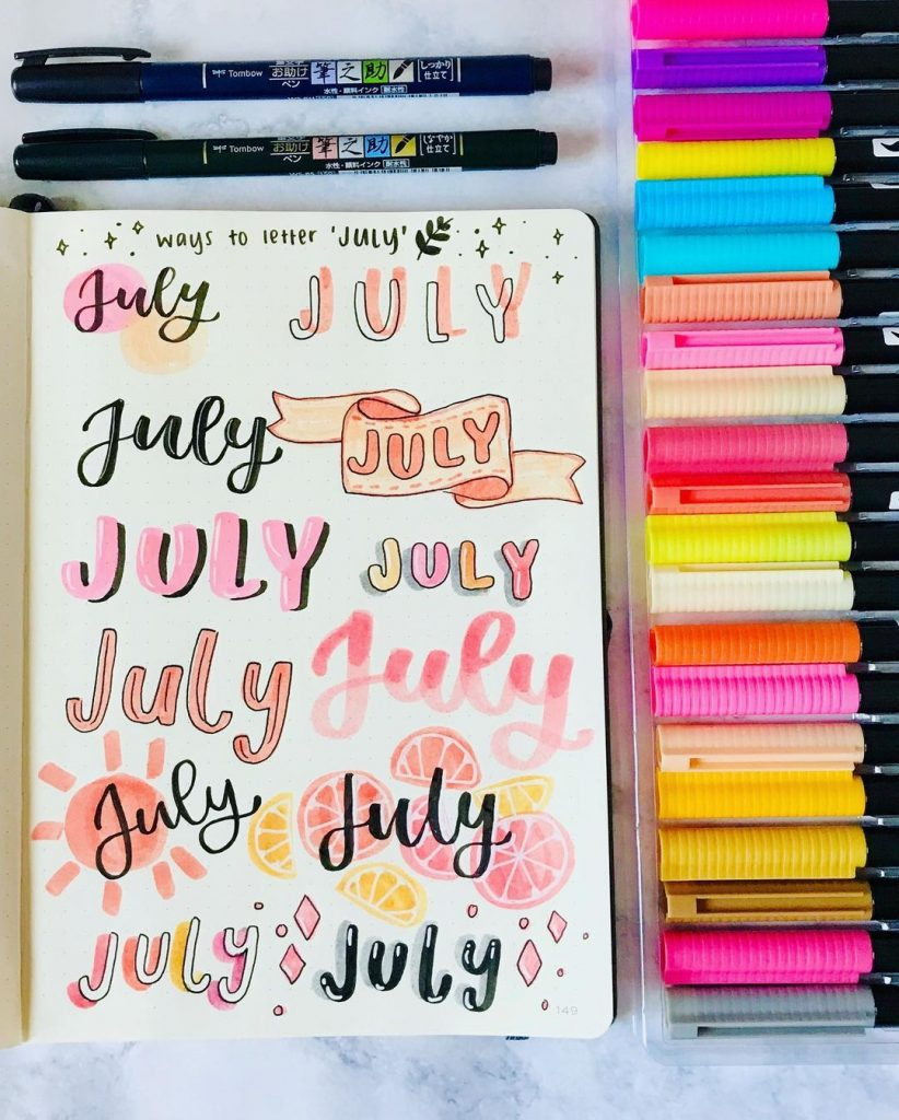Header/title ideas for July