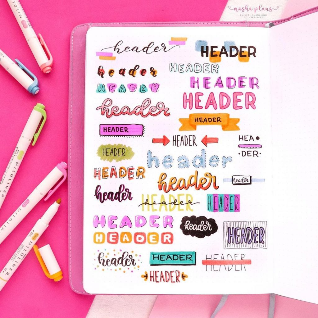 Colourful Header and Title Ideas