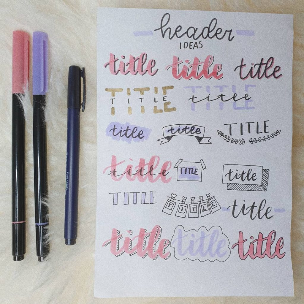 Header and Title Ideas