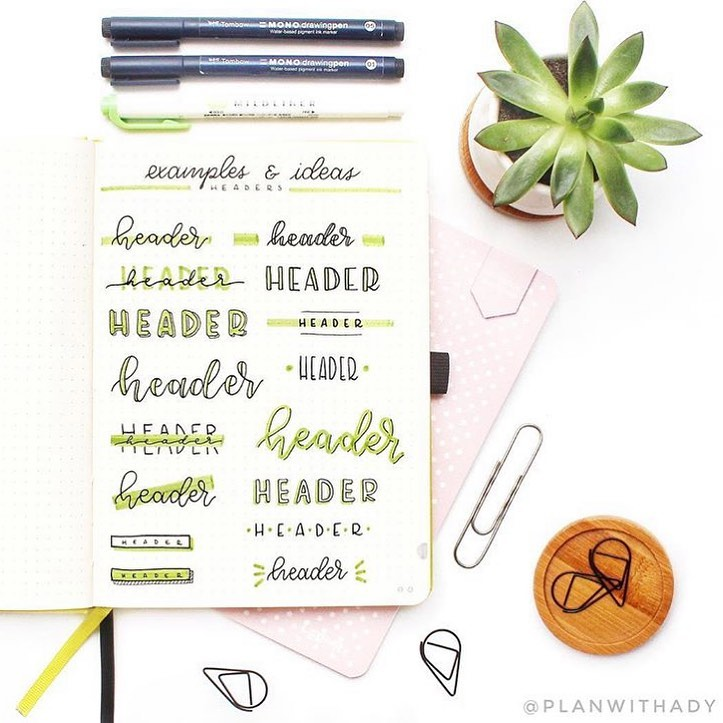 Succulents Header and Title Ideas