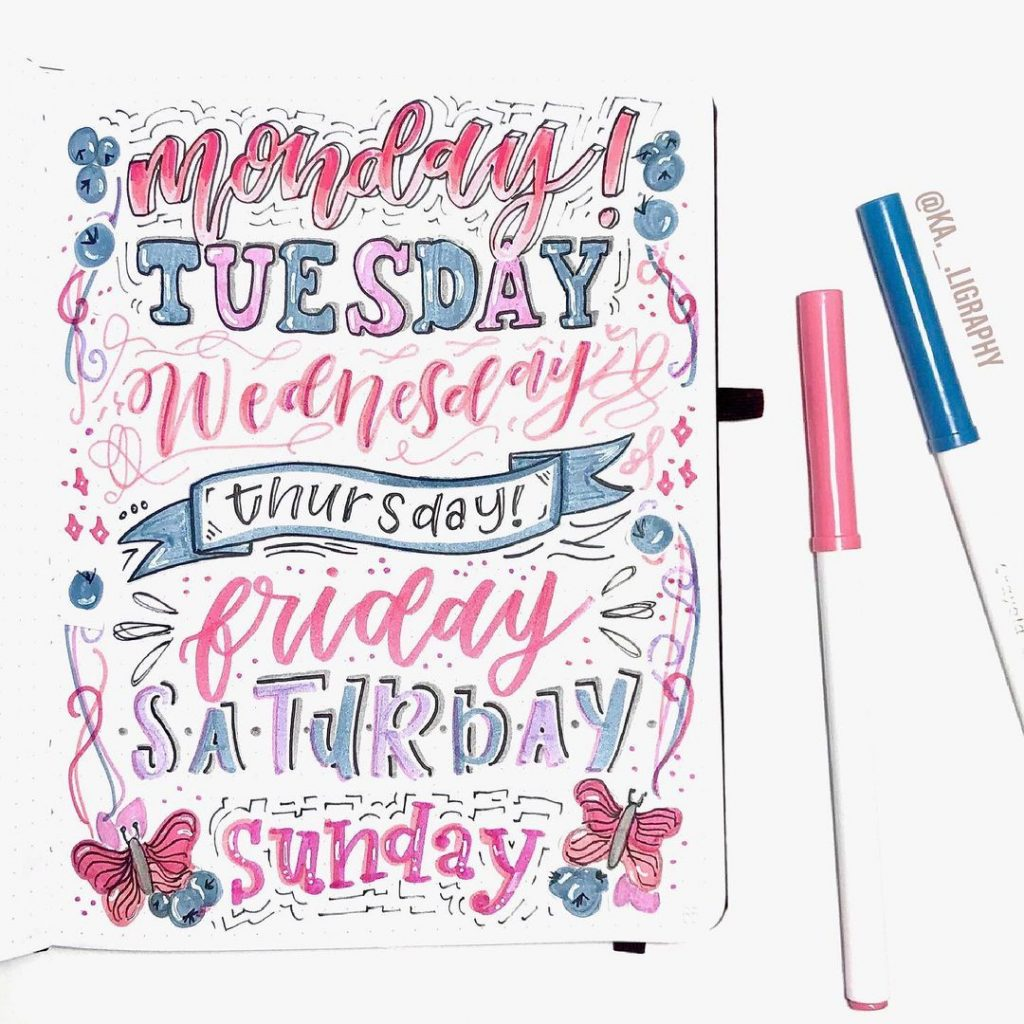 Header Ideas For Days Of The Week