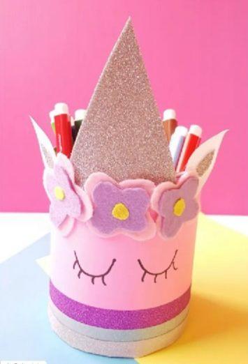 Magical-unicorn-pencil-holder-craft