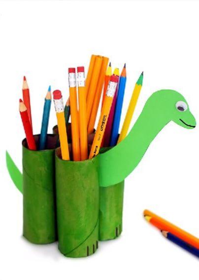 Dinosaur-pencil-holder