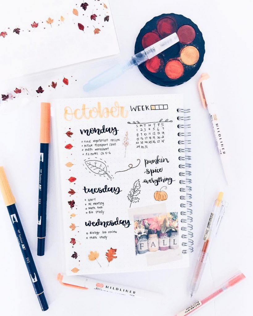 Decorate weekly layout pages