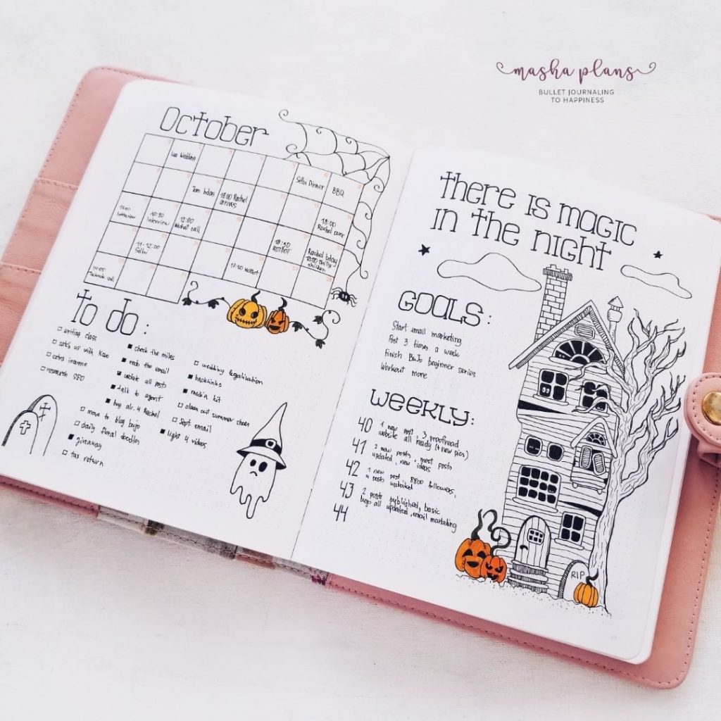 Fall and Halloween theme bullet journal