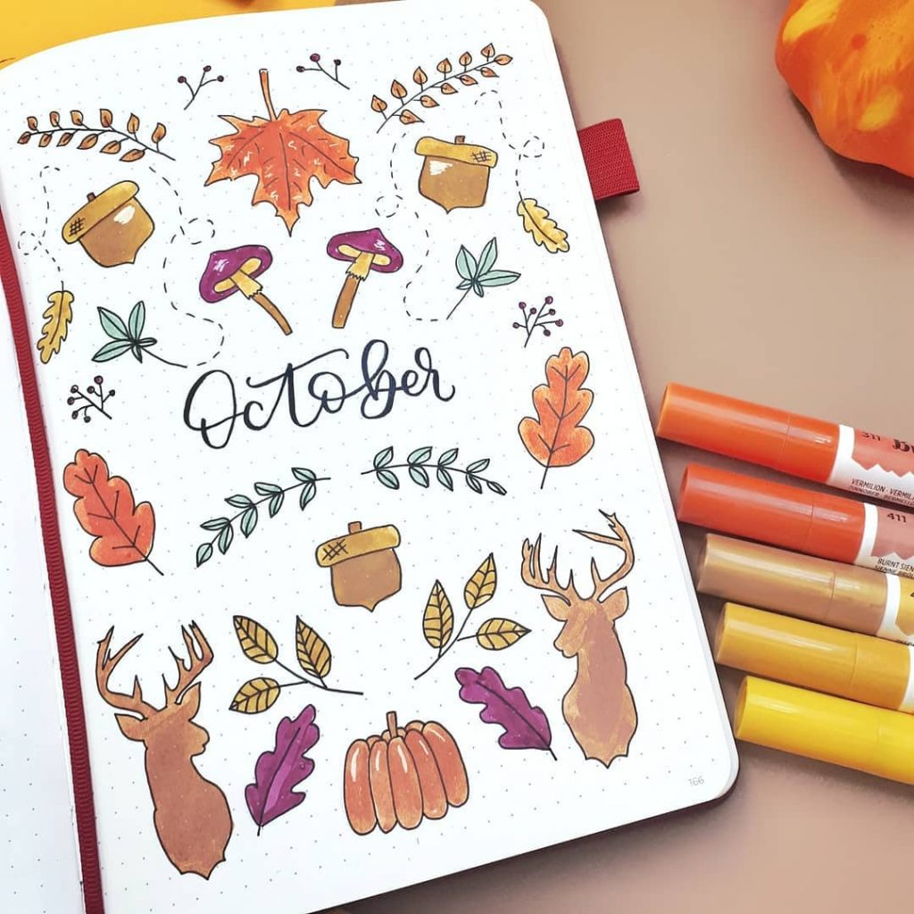 Fall month cover pages